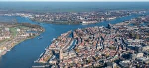 Ontruiming Drechtsteden luchtfoto