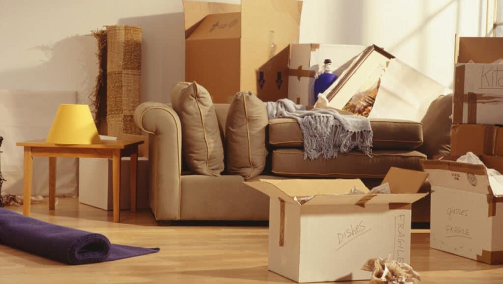 Woningontruiming huis tijdens verhuizing