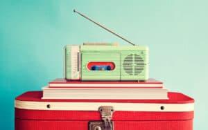 Oude vintage radio